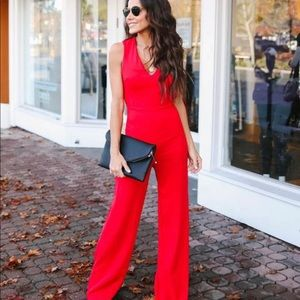 Lady in Red Jumpsuit 💃🏻